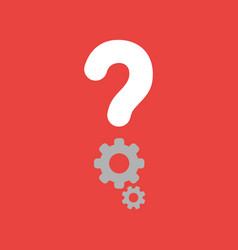 icon concept of question mark with gears on red vector image