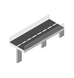 isometric bridge icon 3d isolated drawing vector image