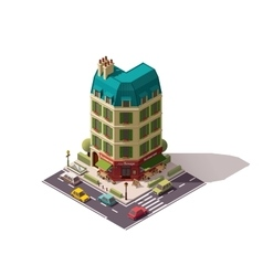 isometric Paris street vector image