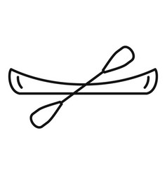 Kayak boat icon outline style vector