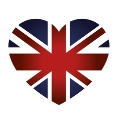 London city flag in heart shape vector