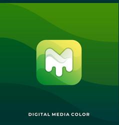 media message design template vector image