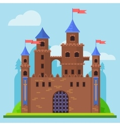 Medieval castle Tower building architecture vector