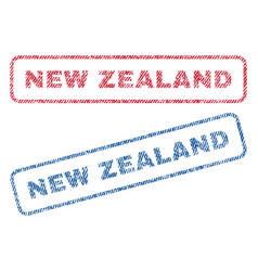 New zealand textile stamps vector