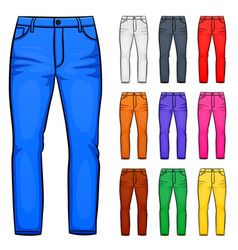 pants set cartoon vector image