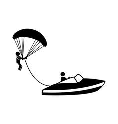 paragliding design vector image