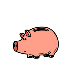 piggy bank character vector image
