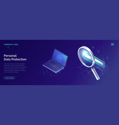 protecting personal data concept account security vector image