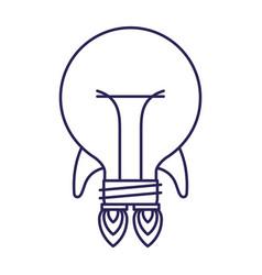 Purple line contour of bulb light in shape of vector