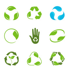 recycling symbols set vector image