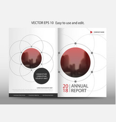 Red abstract circle geometric annual report vector