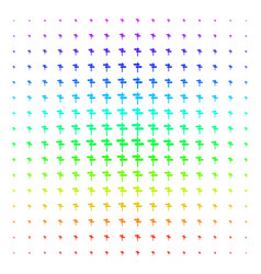 road pointer icon halftone spectrum pattern vector image