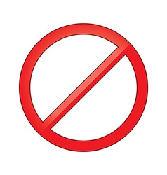 Sign forbidden circle Prohibited vector image