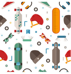 skateboard pattern background vector image