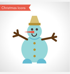 snowman in flat style vector image
