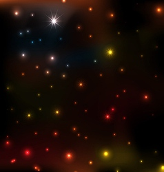 star coloeful background vector image