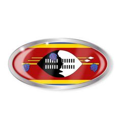 Swaziland flag oval button vector