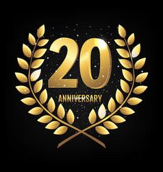 Template logo twenty years anniversary vector