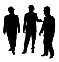 three businessmen architects engineers or workers vector image