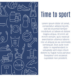 time to sport vertical banner vector image