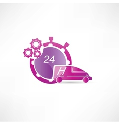 transport service 24 hours icon vector image vector image