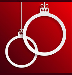 two circles christmas tree toys new year vector image