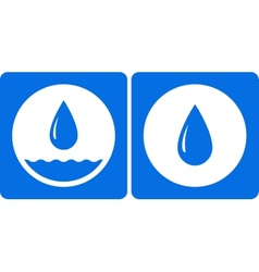 Two water droplet icon vector