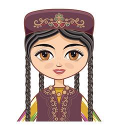 Uzbekistan historical clothes vector
