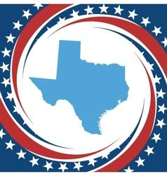 Vintage label Texas vector image