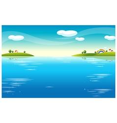 Water Landscape houses vector