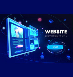 website development banner programming technology vector image