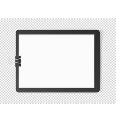 white blank page on tablet object isolated on vector image