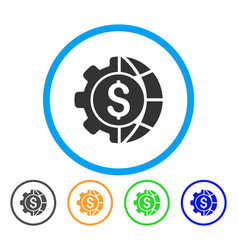 world industry finances rounded icon vector image