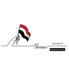 yemen independence day flag background one vector image