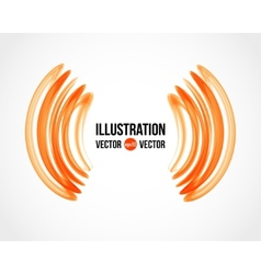 abstract white and orange background vector image