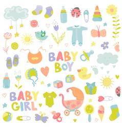 Baby Boy or Girl Design Elements vector image