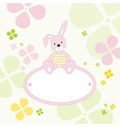 Bunny Rabbit Frame vector image vector image