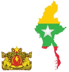Burma Flag vector image