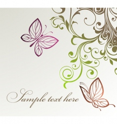 floral butterflies background vector image