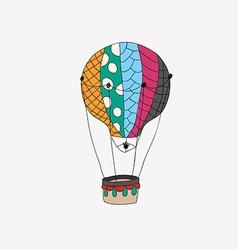 Hand drawn retro air balloon vector image vector image