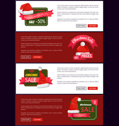 premium quality christmas sale web banners buttons vector image