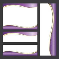 Template card radiant orchid tone vector image