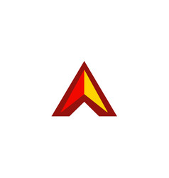 triangle shape colored logo vector image vector image
