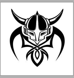 Viking warrior emblem vector