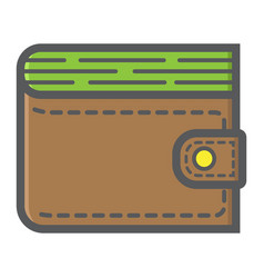 wallet filled outline icon business and finance vector image vector image
