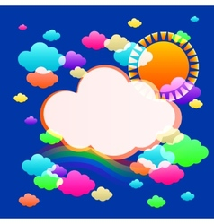 art sky color vector image