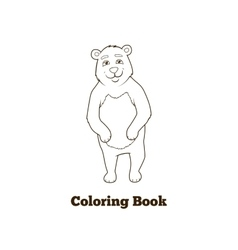 Forest animal bear cartoon coloring book vector image vector image