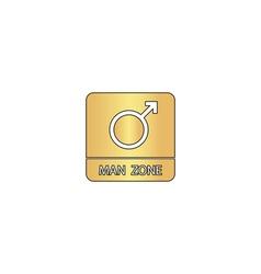 man gender computer symbol vector image