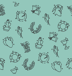 ancient rome pattern vector image