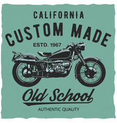 california custom made poster vector image